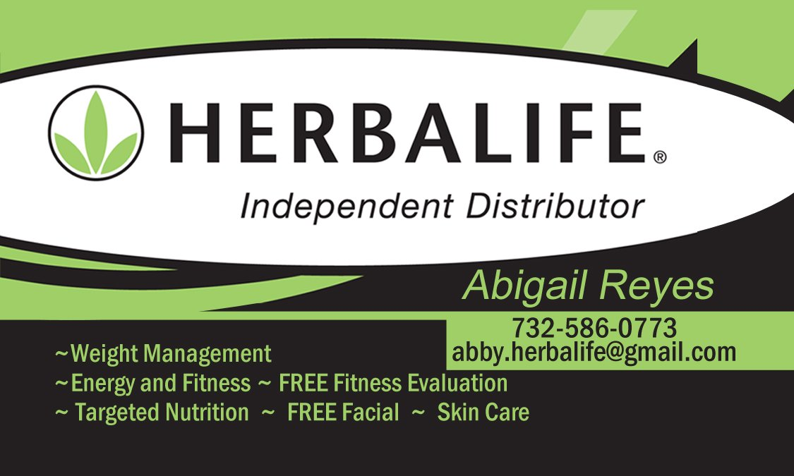 Herbal Life Business Cards