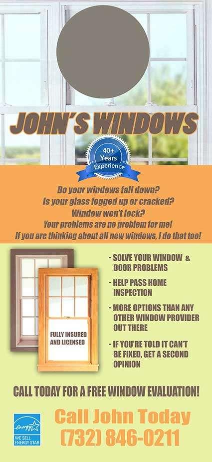 John's Windows- Doorhanger mailer