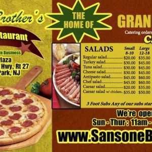 Sansone Brother's Pizza back