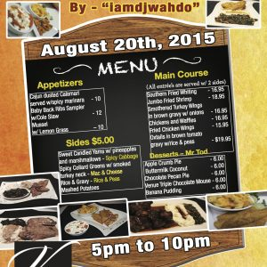 Soul Food Thursday Flyer Menu