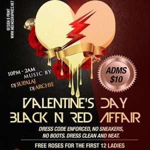 Valentine Black n Red Affair