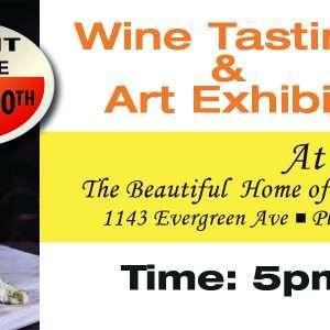 Wine Tasting Art Exhibit